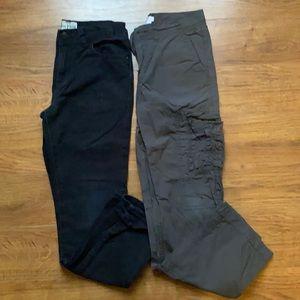 Size 10 boys denim jeans and khaki pants 3/4 leg. The children's place joe fresh